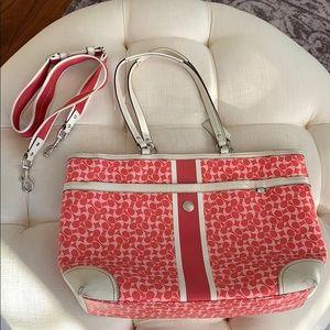 Coach Pink White Diaper Bag